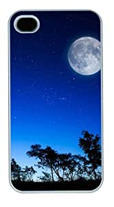 iphone 4 case unique covers Skyviews moon PC White for Apple iPhone 4/4S
