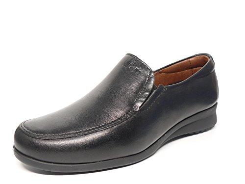 PITILLOS Damen Schuhe komfortabel Mokassin, erhältlich in schwarz und Farbe Marron–�?400–�? Schwarz