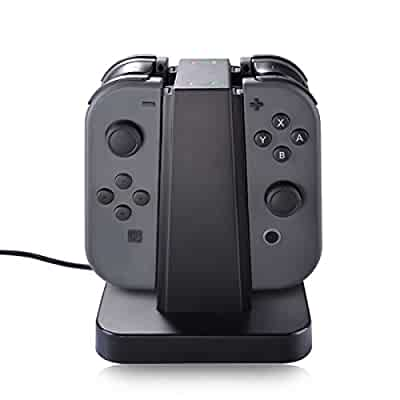 Amazon.com: Nintendo Switch Joy Con Charger Dock, Sunix 4 in ...
