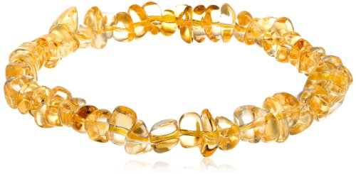 Large Light Citrine Chips Stretch Bracelet, 7.5