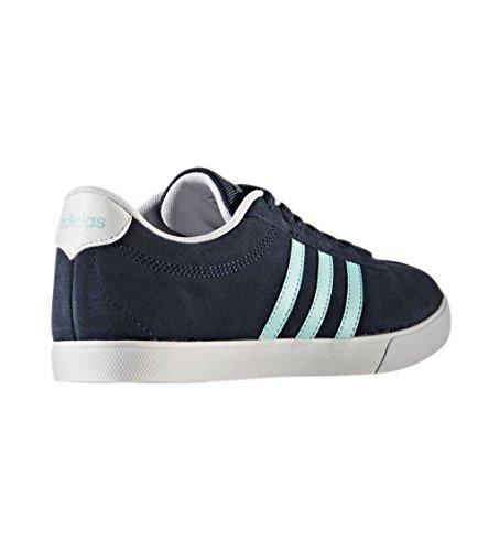 Damen Schwarz Courtset adidas Turnschuhe W Blau 0ggqw