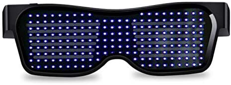 Light up Glasses Party Celebration Music Bar Customizable LED Glowing Glasses with Bluetooth for Raves Birthday Easy Control from APP Animation Xinchangda LED Glasses DIY Messages