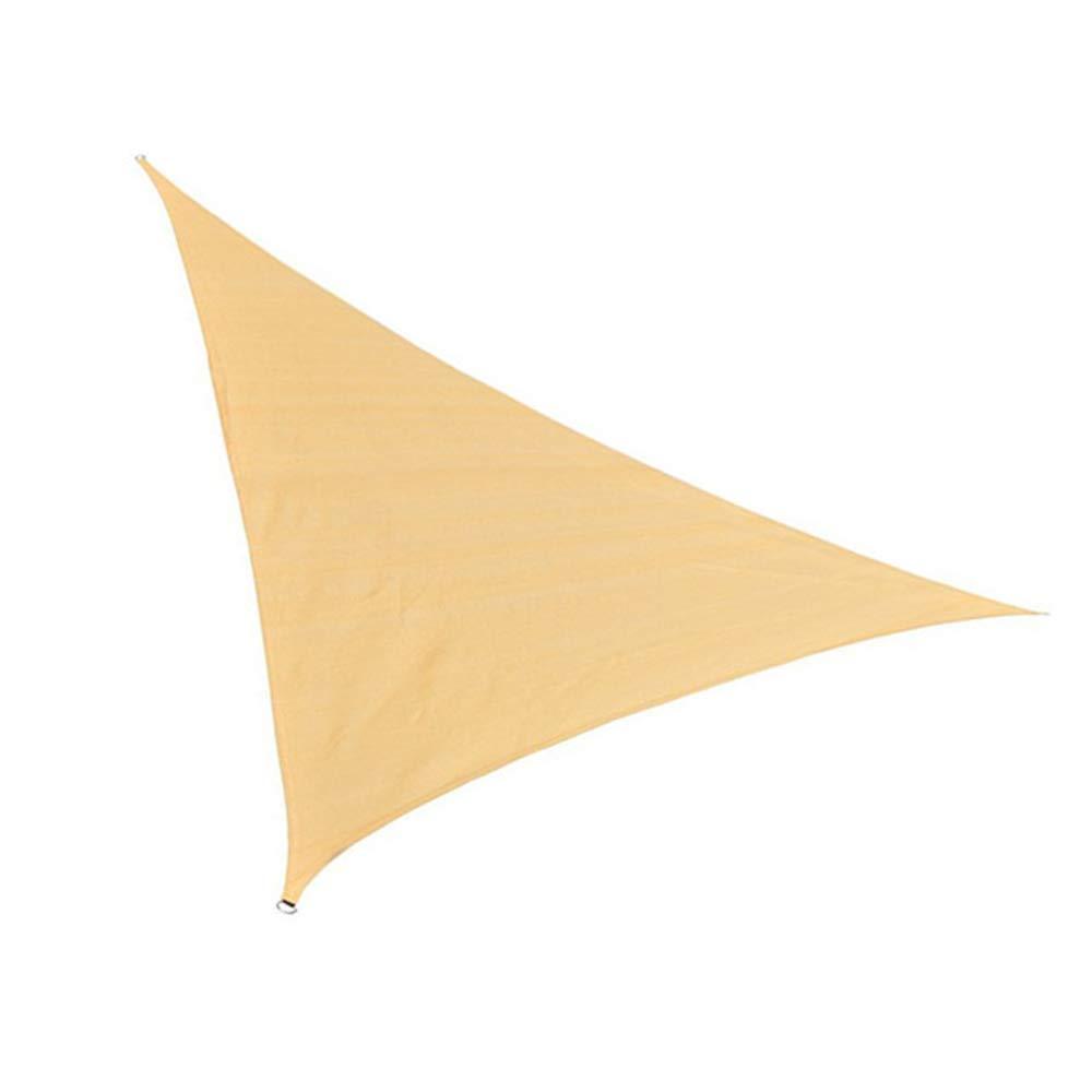 FHH ガーデンシェードネットガーデニング三角形シェードシェード屋外絶縁ネットシェードセイルテラス日焼け止め (色 : ベージュ, サイズ さいず : 5*5*5m) 5*5*5m ベージュ B07P6DPCH3
