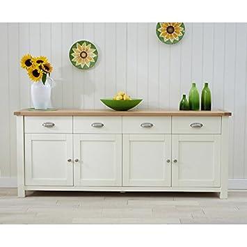 Petal Painted Oak Cream Furniture Extra Large Sideboard Amazonco