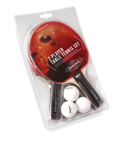 Brunswick 2 Paddle Set with 3 Ball Table Tennis Set