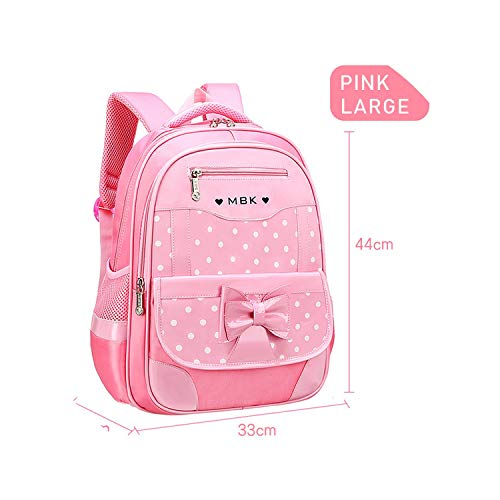 2019 Children School Bags Girls Backpack Kids Dot Printing Backpacks Set Schoolbag Waterproof Primary School Backpackss,005