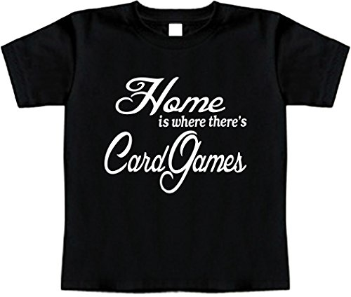 Funny Baby T-Shirt Size 2T (Home is where there's Card Games) Toddler Tee Shirt