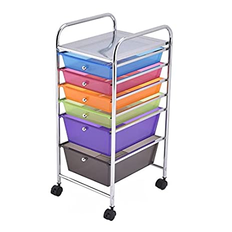 Good Craft Storage Cart With Wheels   6 Drawer Utility Bundle W Multiple  Compartments Organizer Case