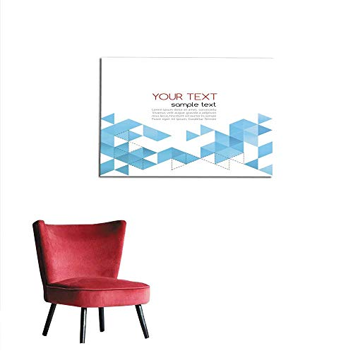 homehot Wall Picture Decoration Abstract Template Background with Triangle Mural 28