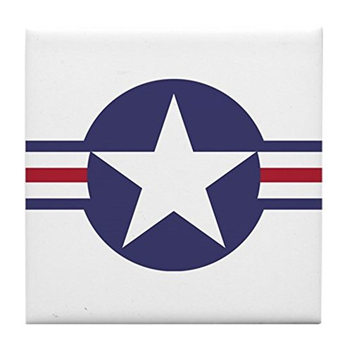 CafePress - USA Roundel - Tile Coaster, Drink Coaster, Small Trivet (Usa Tile Drink Coasters)