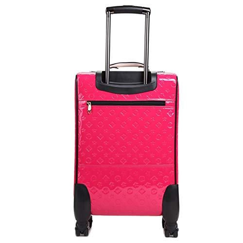 ZHANGQIANG Suitcase Travel Trolley Case Luggage/Luggage, Lever Korean Soft Incense Universal Wheel Boarding Package (Color : Rose, Size : Small(16)) ()