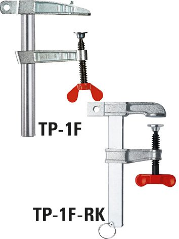 Bessey Earth Ground Clamp TP-1F-RK 5.9In/3.15In, SILVER/BLACK