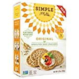 Simple Mills - Sprouted Seed Crackers - Original Flavor - 4.25 oz, Gluten Free, Grain Free (1 Pack)