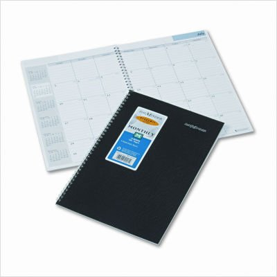 Day Minder 14-Month Academic/Fiscal Planner, 7.87 x 11.87 Inches, Black (AY2-00)