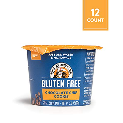 Gluten-Free Single Serve Chocolate Chip Cookie Mix, 2 Ounce, 12 Count (Microwave Chocolate Chip Cookie In A Mug)