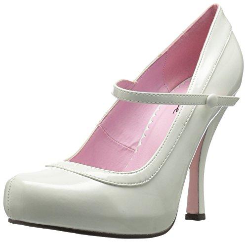 Ellie Shoes Womens 423-Babydoll Platform Pump White Xo8hl9oMy