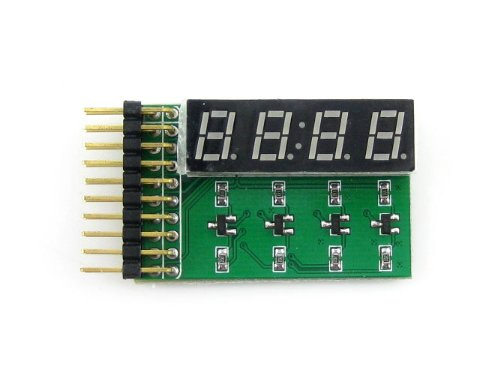 Waveshare 8 SEG LED Board Digital Tube Display Module 4-Digit 8-Segment LED Display Board