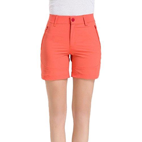 GITVIENAR Pantalones Cortos Deportivos de Yogas Modelos Femeninos al Aire Libre Secado Rápido Trajes Gimnasio Conjuntos Respirable y Pantalones Cortos Para Mujer naranja