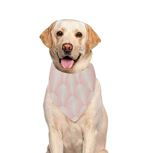- JTMOVING Dog Scarf Golden Rose Scallop Style Art Deco Printing Dog Bandana Triangle Kerchief Bibs Accessories for Large Boy Girl Dogs Cats Pets Birthday Party Gift