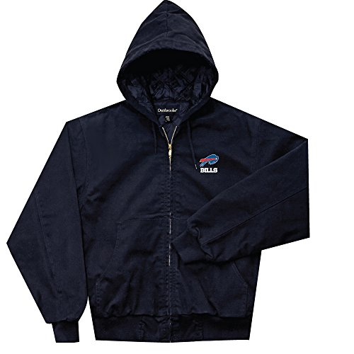 NFL Buffalo Bills Cumberland Canvas Quilt Lined Hooded Jacket, Navy, Large
