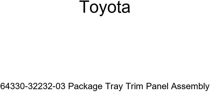 Toyota Genuine 64330-32232-03 Package Tray Trim Panel Assembly
