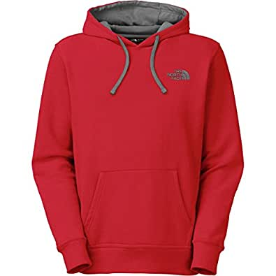 The North Face Embroidered Logo Men's Pullover Hoodie CZZ8-65J TNF Red Asphalt Grey XXL