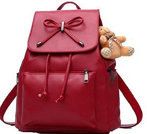 à Femme Daypack Sacs Tourisme Bleu Rouge à Zippers Mode Foncé bandoulière TSFBG181812 Dos Vineux AalarDom Sacs dzYxwBzA