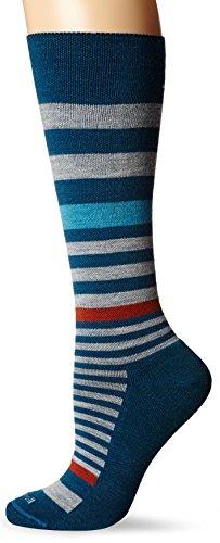 Sockwell Women's Orbital Stripe Socks, Teal, Small/Medium