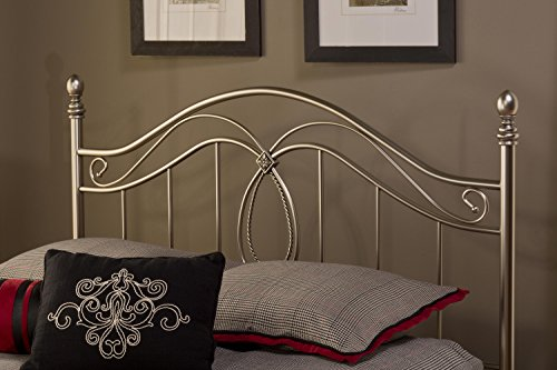 Hillsdale Furniture 167HKR Milano Headboard with Rails, King, Antique Pewter