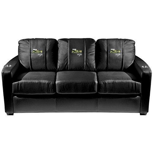 XZipit Armed Forces Silver Sofa with Army Wife Logo Panel, Black