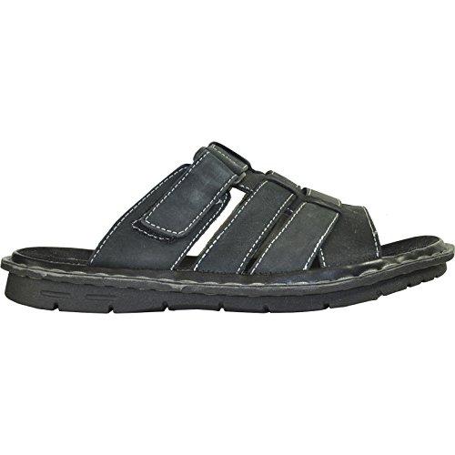 Kozi Sandalo Uomo Nuovo Diego-02 Tomaia In Pelle Geniune? Nero 9m