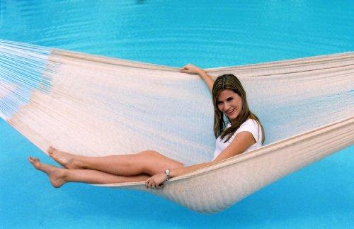 Brazilian Hammock Natural (Hammocks Rada- Handmade Yucatan Hammock - Matrimonial Size Natural Color - 13ft long Artisan Crafted )