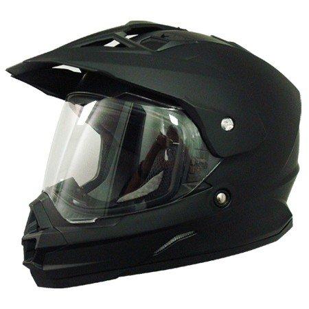 AFX FX-39 Unisex-Adult Full-Face-Helmet-Style Dual Sport Helmet (Flat Black, X-Large)