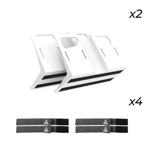 Stayhold Metro Starter Pack - White ( 2 x STAYHOLD METRO Cargo Organizers and 4 x Sets of Straps) by Stayhold