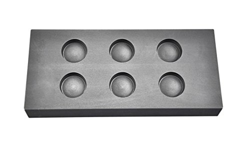 6 Cavity 1 oz Troy Ounce Round Silver Graphite Ingot Coin...