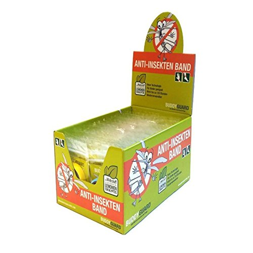 Buddy Guard Deet Free (lemons Eucalyptus) Anti-Insect, Mosquito band Yellow - Made in Italy (40) by Sports Imports LLC