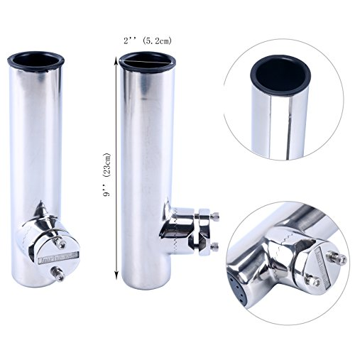 Amarine-made Stainless Clamp on Fishing Rod Holder for Rails 7/8 to 1 - Lower Clamp - 7744sn-1