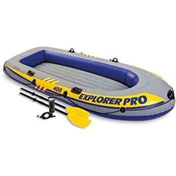 Intex inflable Explorer Pro 400 four-person barco con remos ...