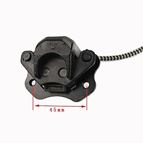 INNOGLOW Rear Brake Assembly Master Cylinder Caliper for 50cc 70cc 90cc 110cc 125cc Chinese ATV Quad Off-Road Motorcycle Scooter (Black) by INNOGLOW (Image #1)