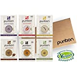 Purition Vegan Trial Box | Premium Dairy Free High Protein Powder for Shakes and Smoothies | 6 x 40g sachets