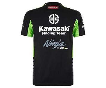 Kawasaki SBK T-Shirt Homme Noir//Vert L