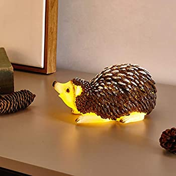 Vanthylit LED Real Wax Battery Operated with Timer Brown Hedgehog Flameless Candle