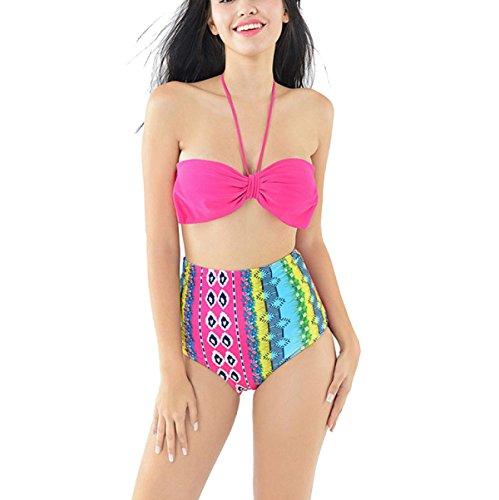 La Sra Cintura Del Arco Del Traje De Baño Bikini Atractivo De La Manera Multicolor 7
