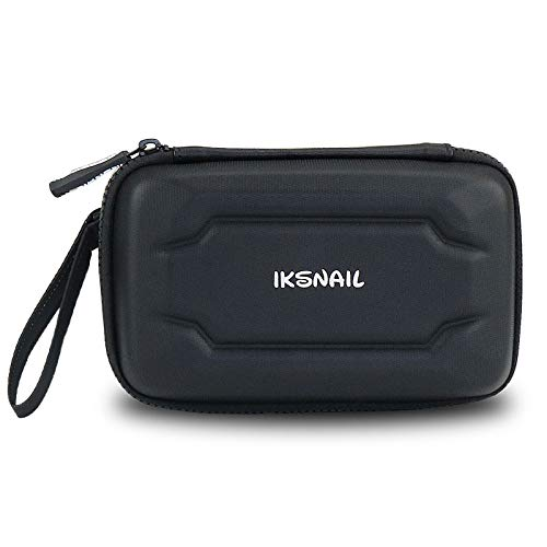 Iksnail Electronics Accessories Carrying Storage Case, Shockproof Portable EVA Travel Gadgets Bag for Power Bank, Cables, Bank Cards, SD Memory Cards, Earphone, Hard Drive, Car/GPS Accessories, Black