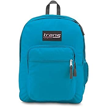 """JanSport Mens Classic Mainstream High Stakes Backpack - Mammoth Blue/Multi Stickers / 16.7""""H X 13""""W X 8.5""""D"""
