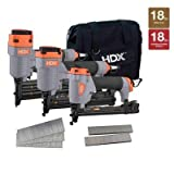2 in. 18-Gauge Brad Nailer Narrow Crown Stapler (5-Piece) by HDX