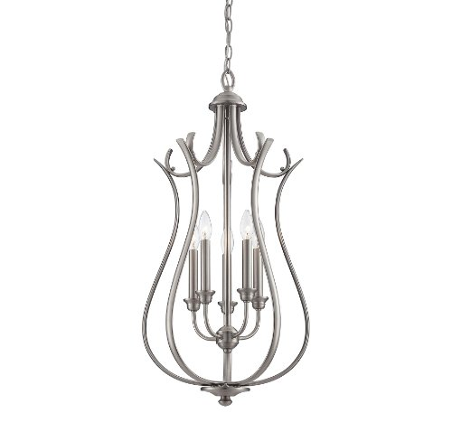 Savoy Foyers House Ceiling Pendant - Savoy House 5-Light Foyer in Pewter Finish 3-4503-5-69