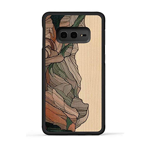 - Carved | Samsung Galaxy S10e | Luxury Protective Traveler Case | Unique Real Wooden Phone Cover | Rubber Bumper | Half Dome Print