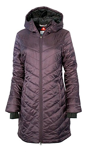 Columbia Omni-Heat Morning Light II Hooded Womens Long Coat Parka Jacket, Dusty Purple, Medium