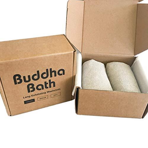 2 Pack - Buddha Bath Body Premium Exfoliating Asian Shower Washcloth Towel - ROUGH -